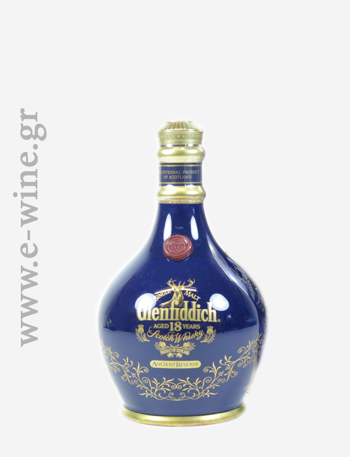 GLENFIDDICH 18 ΕΤΩΝ DECANTER BLUE ANCIENT RESERVE